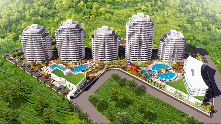2-х комнатные квартиры в новом комплексе лучший пляж Северный Кипр!