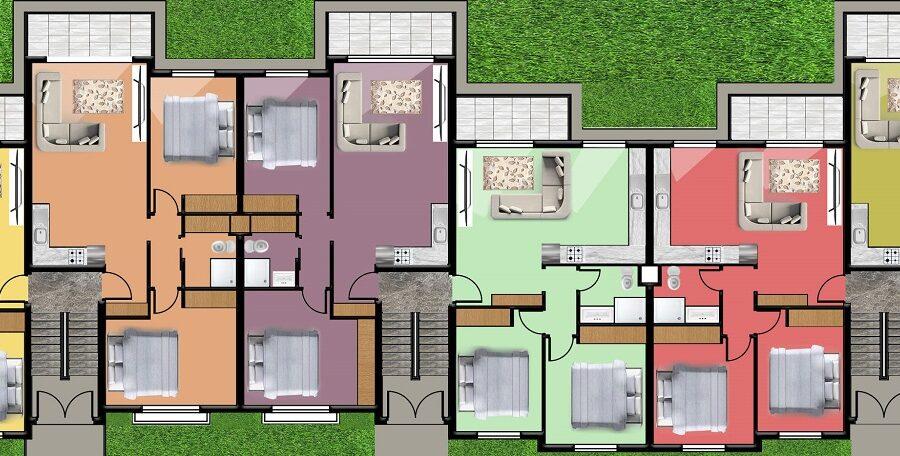 3-х комнатные апартаменты на пляже Лонг Бич